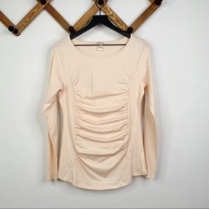 SUNDANCE long sleeve ruched top✨M